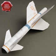 Aircraft Missile AGM-119B Pengiun 3d model