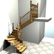 Interior Stairs 2, Escaleras de interior 2 3d model