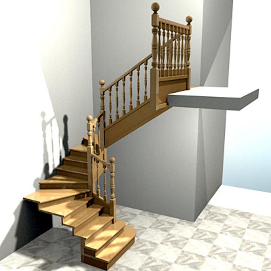 Escalier intérieur 2, Escaleras de interior 2 modèle 3D $10 ...