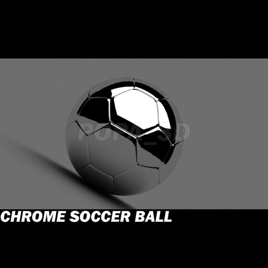 Chrome Soccer Ball 3D Model $20 -  max  c4d  ma  obj  lwo