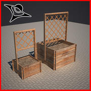 wood planter 3d model