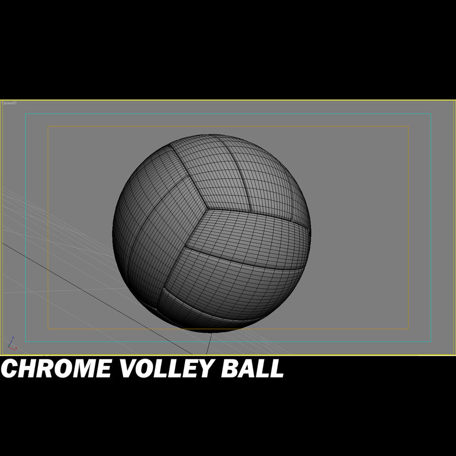 Chrom-Volleyball royalty-free 3d model - Preview no. 3