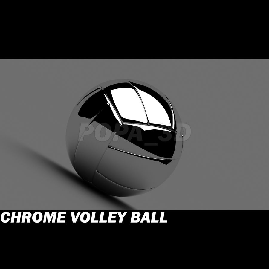 Chrom-Volleyball royalty-free 3d model - Preview no. 1