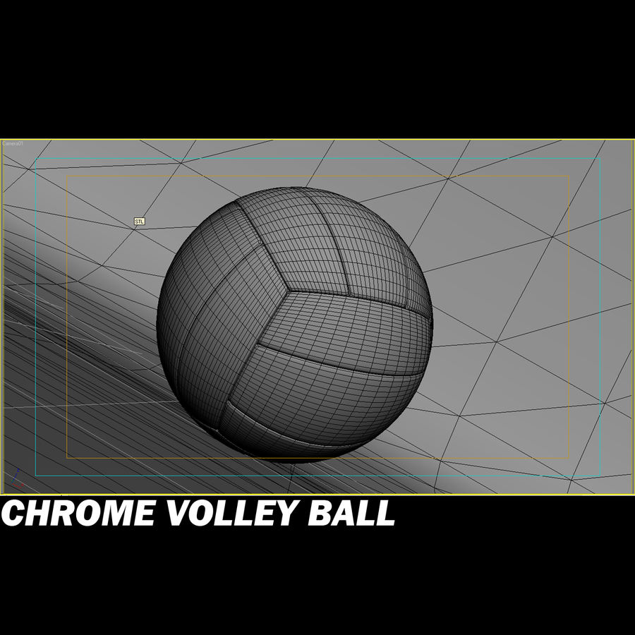 Chrom-Volleyball royalty-free 3d model - Preview no. 4