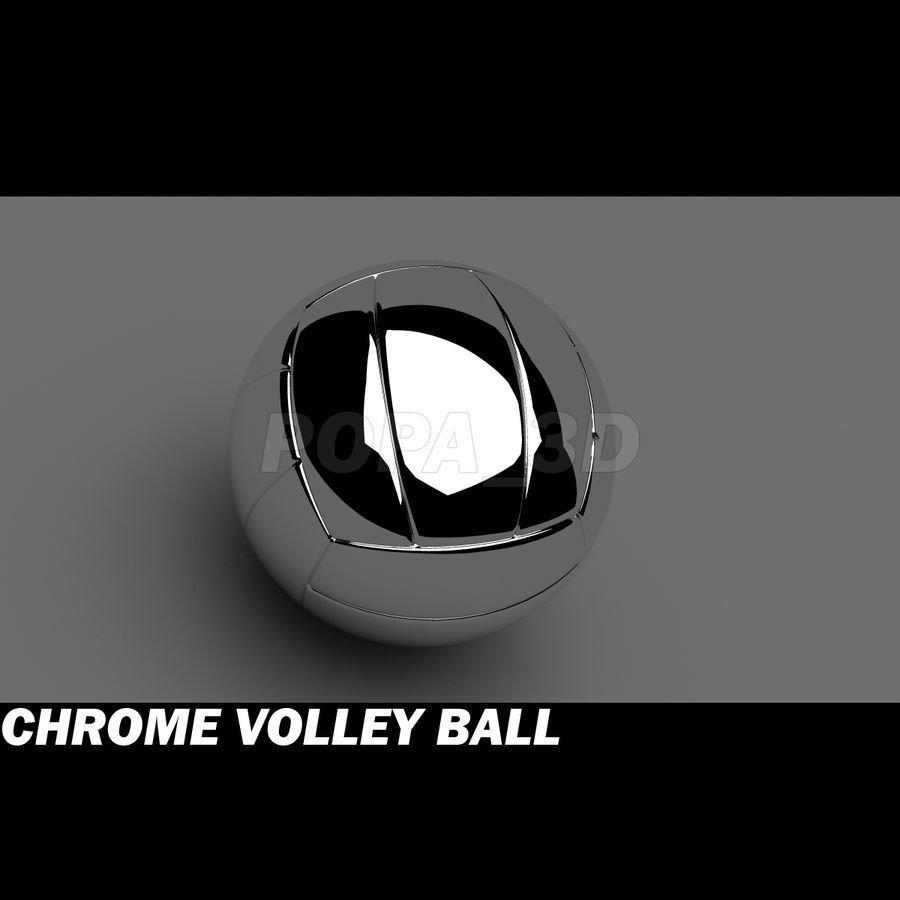 Chrom-Volleyball royalty-free 3d model - Preview no. 2