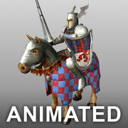 Knight_mounted 3d model