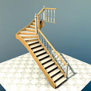 Interior Stairs, Escaleras de interior 3d model