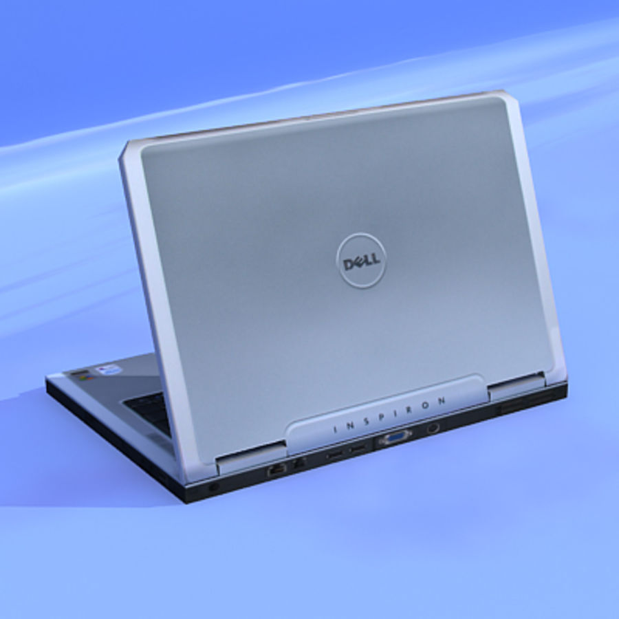 Dell Notebook royalty-free 3d model - Preview no. 3