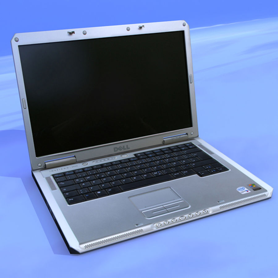 Dell Notebook royalty-free 3d model - Preview no. 2