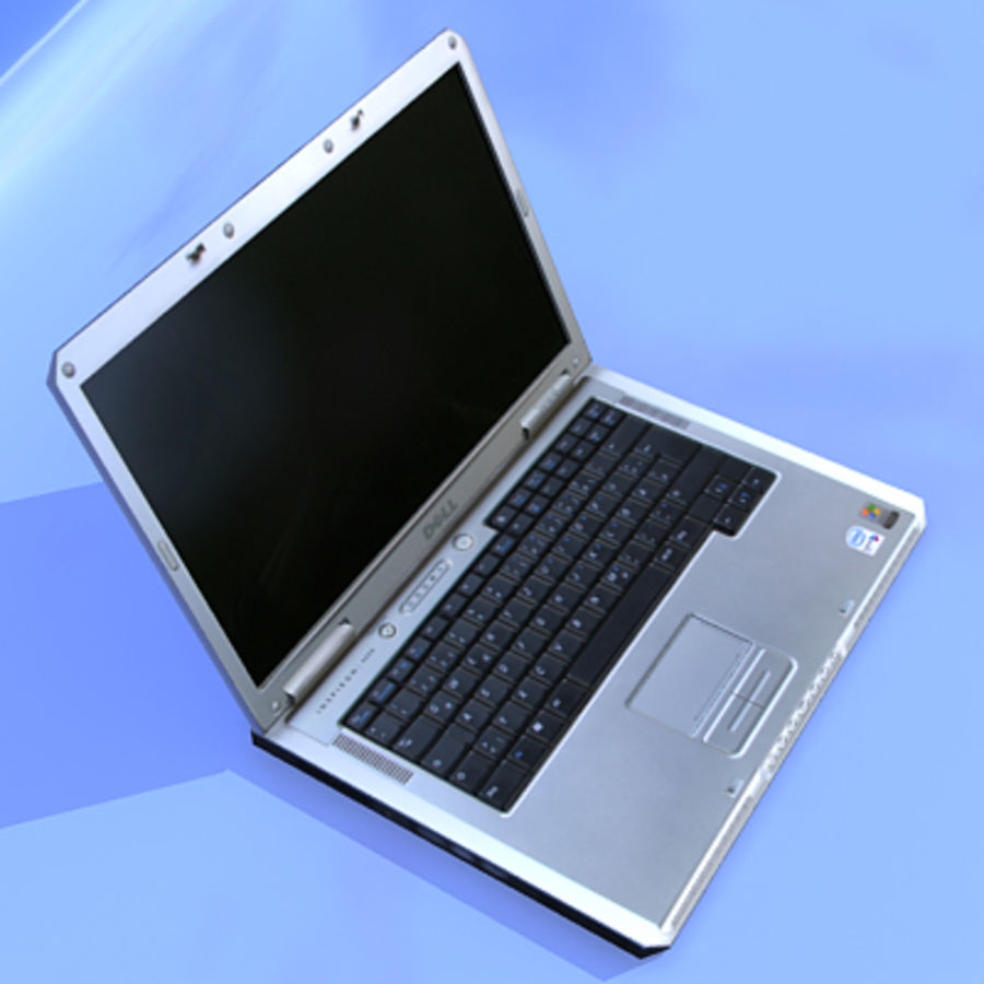 Dell Notebook royalty-free 3d model - Preview no. 4