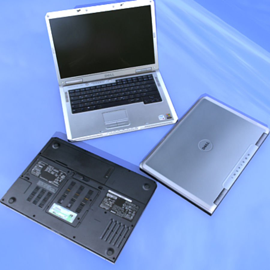 Dell Notebook royalty-free 3d model - Preview no. 10
