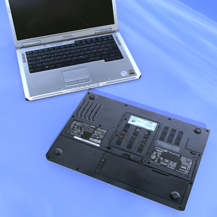 Dell Notebook royalty-free 3d model - Preview no. 7