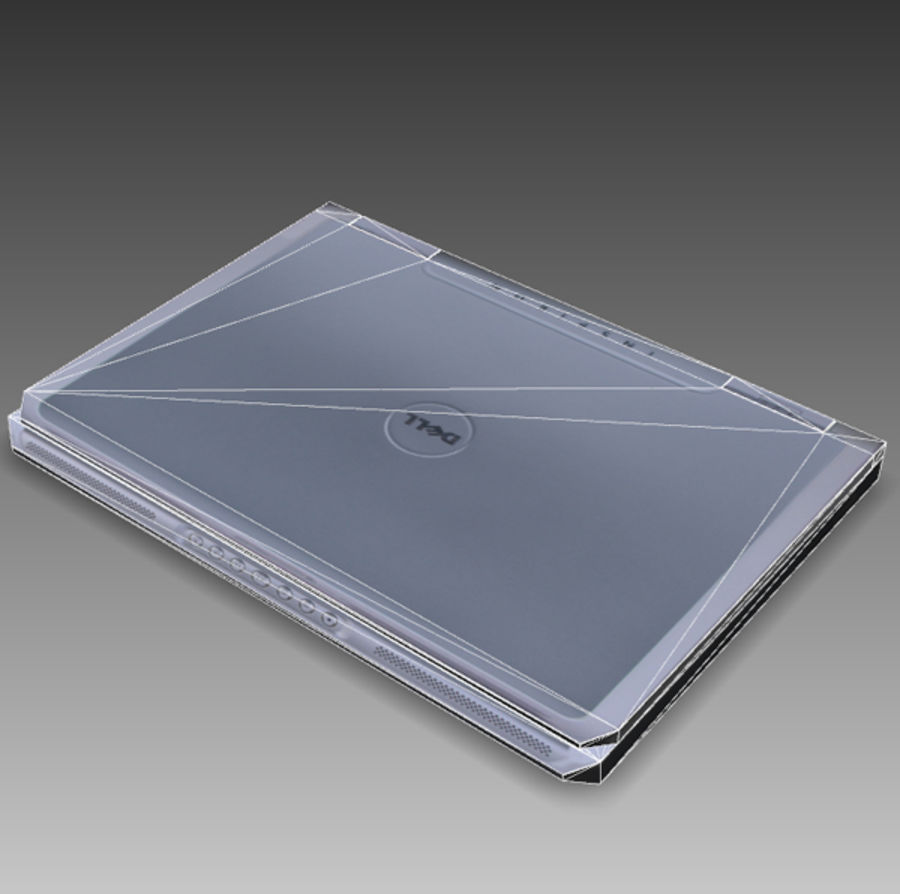 Dell Notebook royalty-free 3d model - Preview no. 13