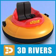Two-seat bumper boat  by 3DRivers 3d model