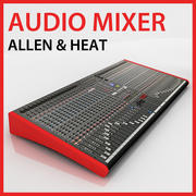 Allen & Heath ZED 436 Audio Mixer DJ 3d model