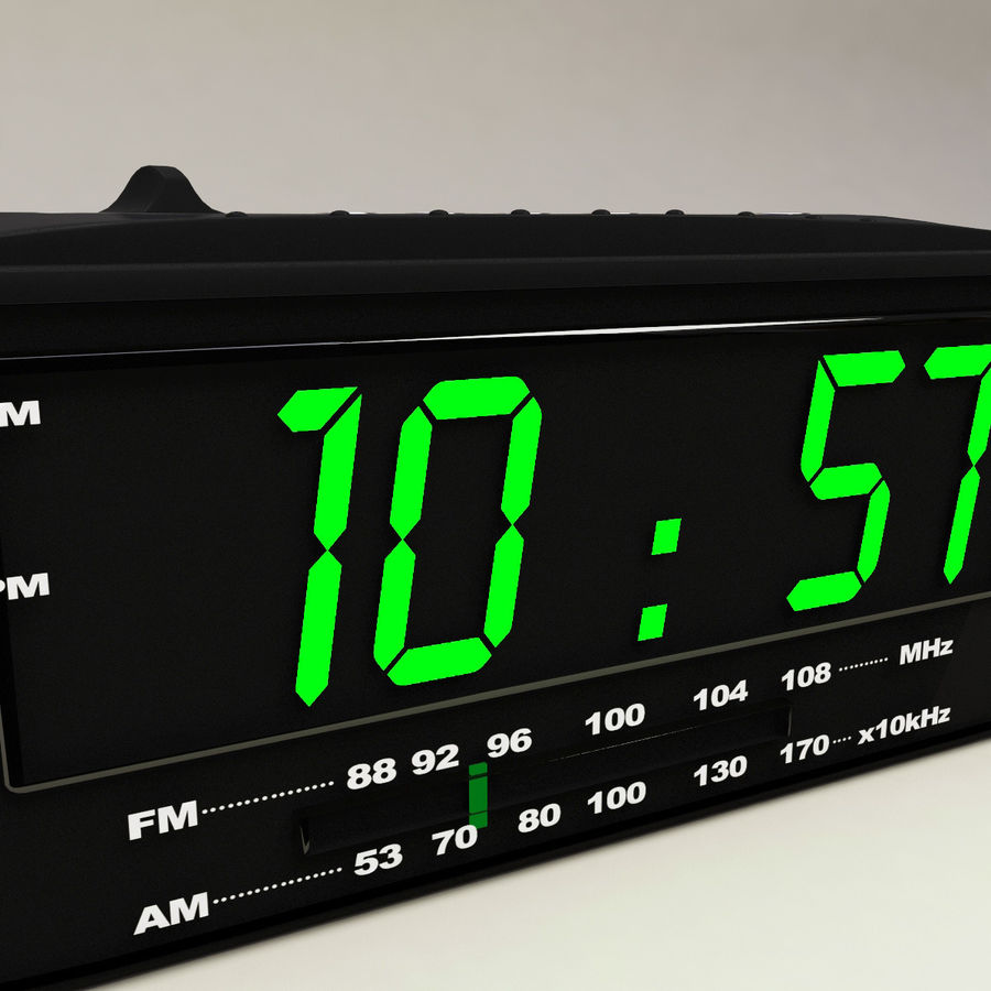 Digital clock radio royalty-free 3d model - Preview no. 7