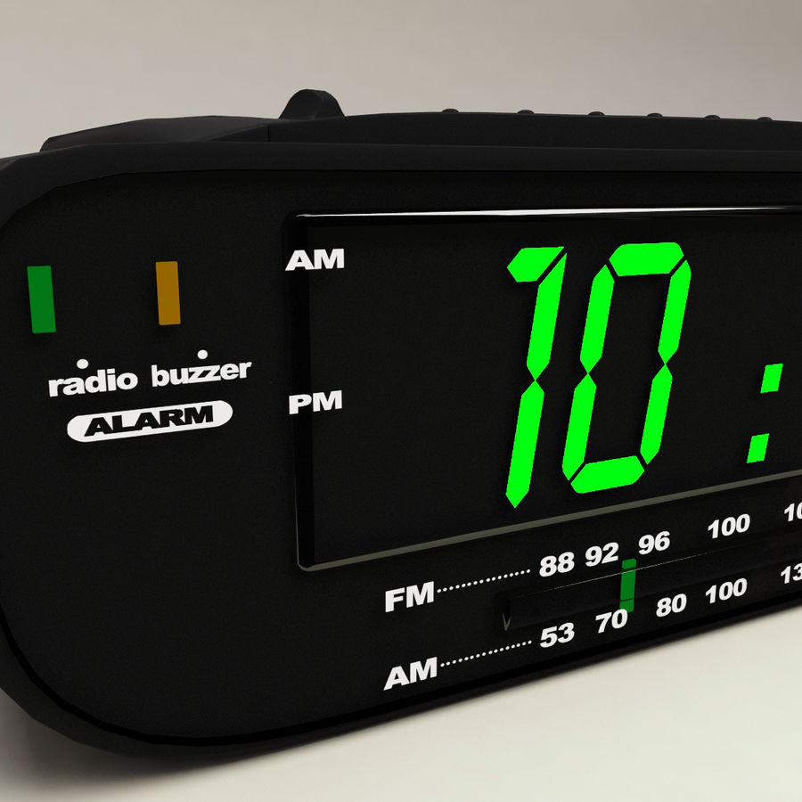 Digital clock radio royalty-free 3d model - Preview no. 6