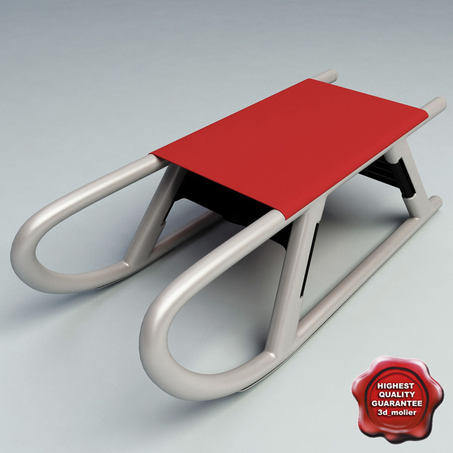 Snow Sled V2 royalty-free 3d model - Preview no. 1