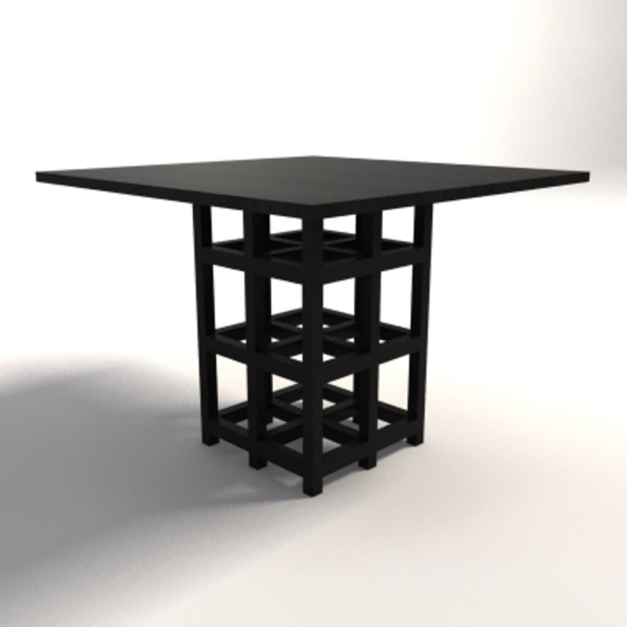 Charles Rennie Mackintosh DS2 Table royalty-free 3d model - Preview no. 3