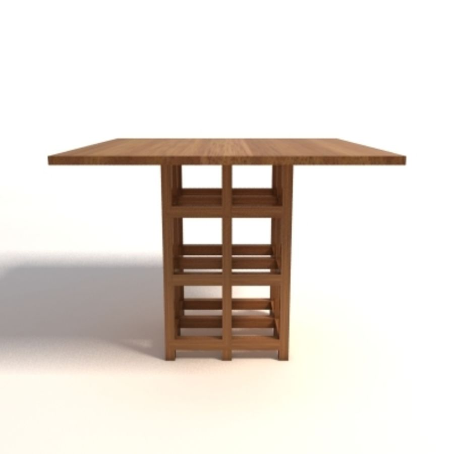 Charles Rennie Mackintosh DS2 Table royalty-free 3d model - Preview no. 2