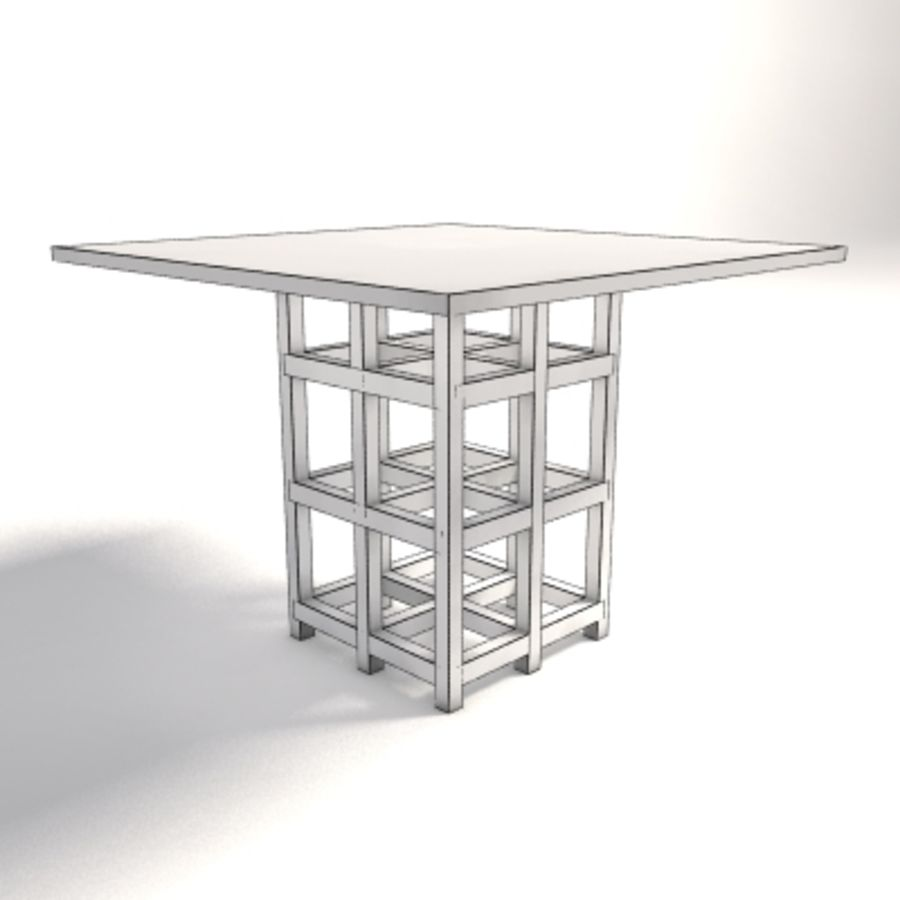 Charles Rennie Mackintosh DS2 Table royalty-free 3d model - Preview no. 5