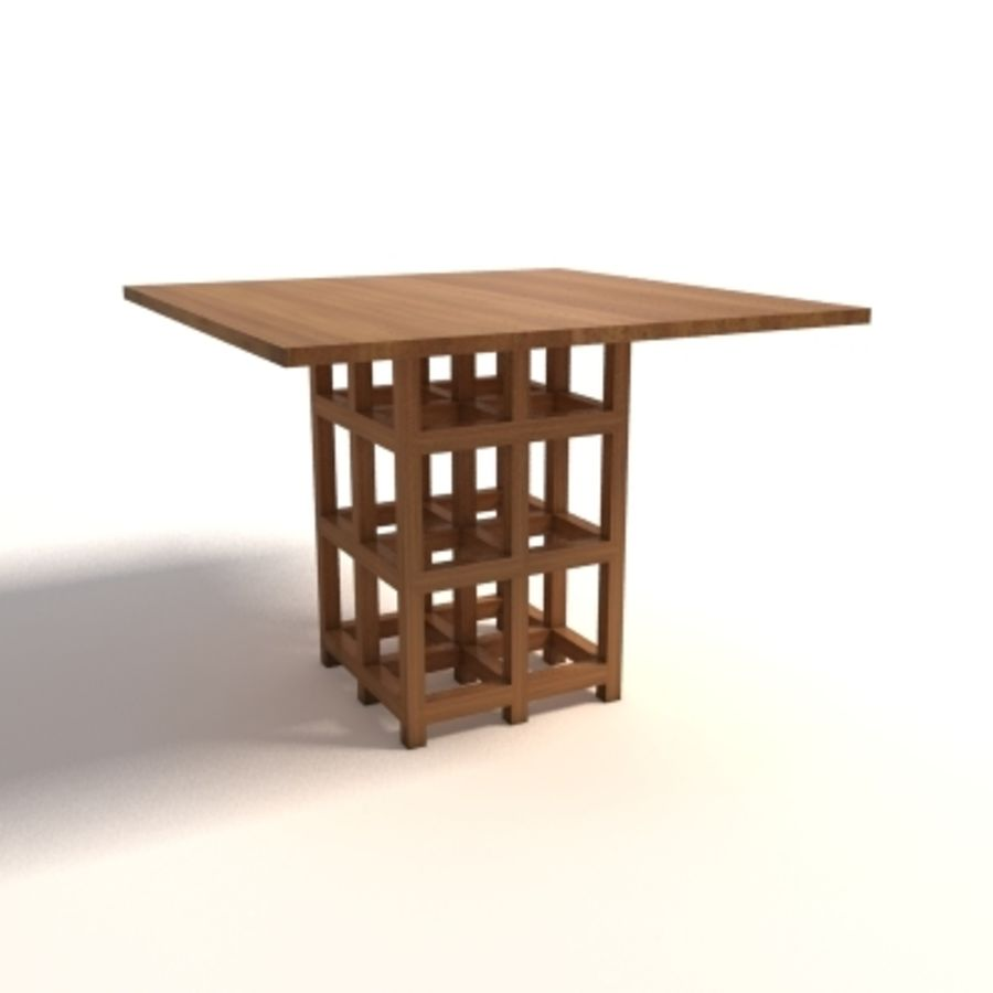 Charles Rennie Mackintosh DS2 Table royalty-free 3d model - Preview no. 1