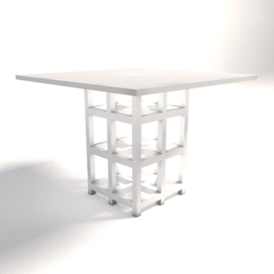 Charles Rennie Mackintosh DS2 Table royalty-free 3d model - Preview no. 4