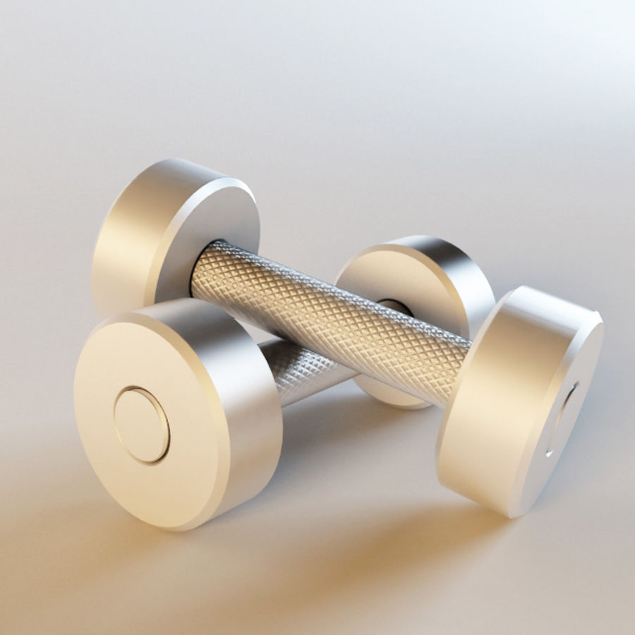 Dumbbells royalty-free 3d model - Preview no. 1
