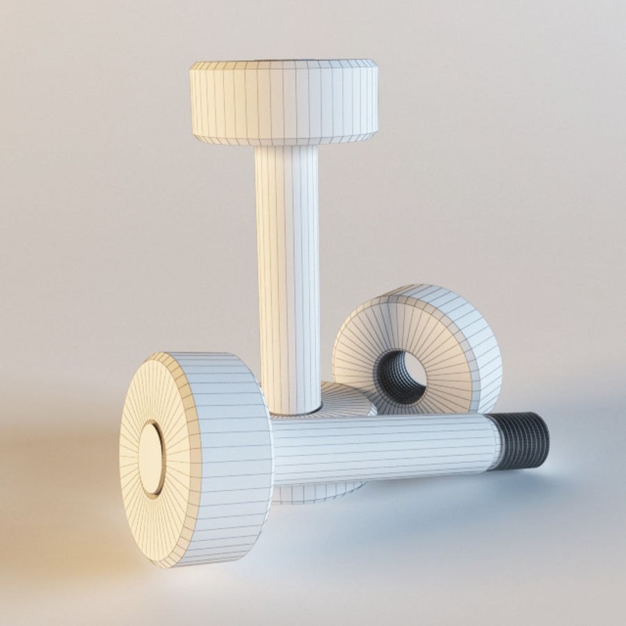 Dumbbells royalty-free 3d model - Preview no. 3
