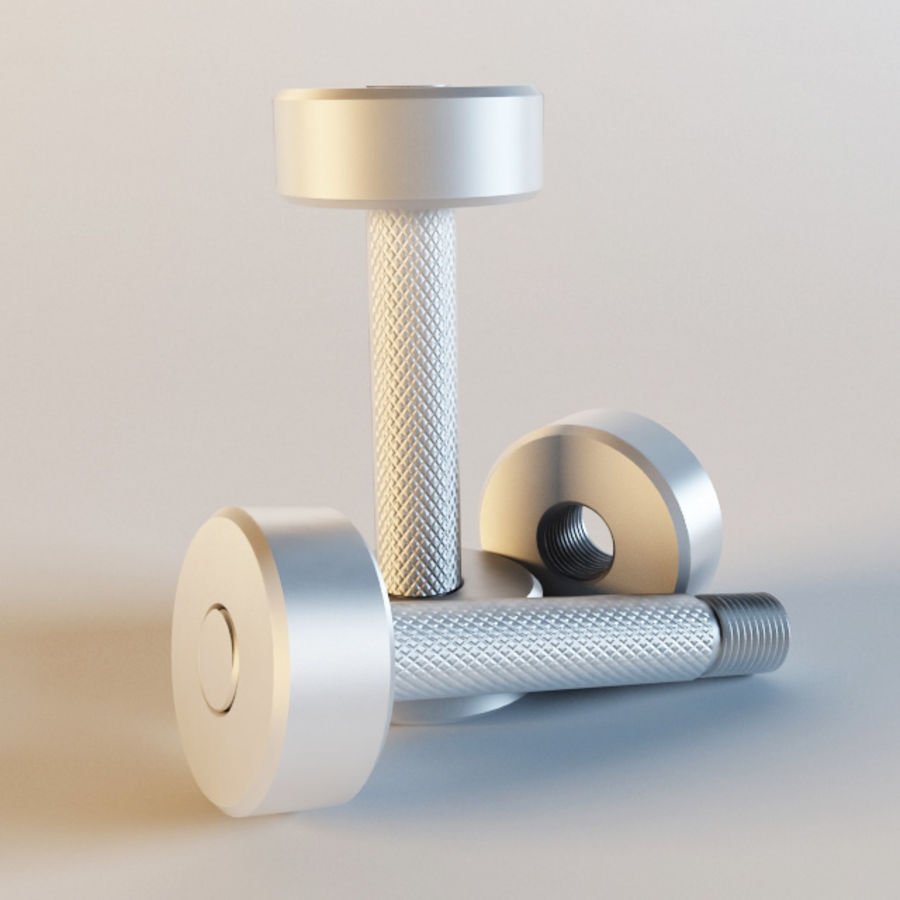 Dumbbells royalty-free 3d model - Preview no. 2