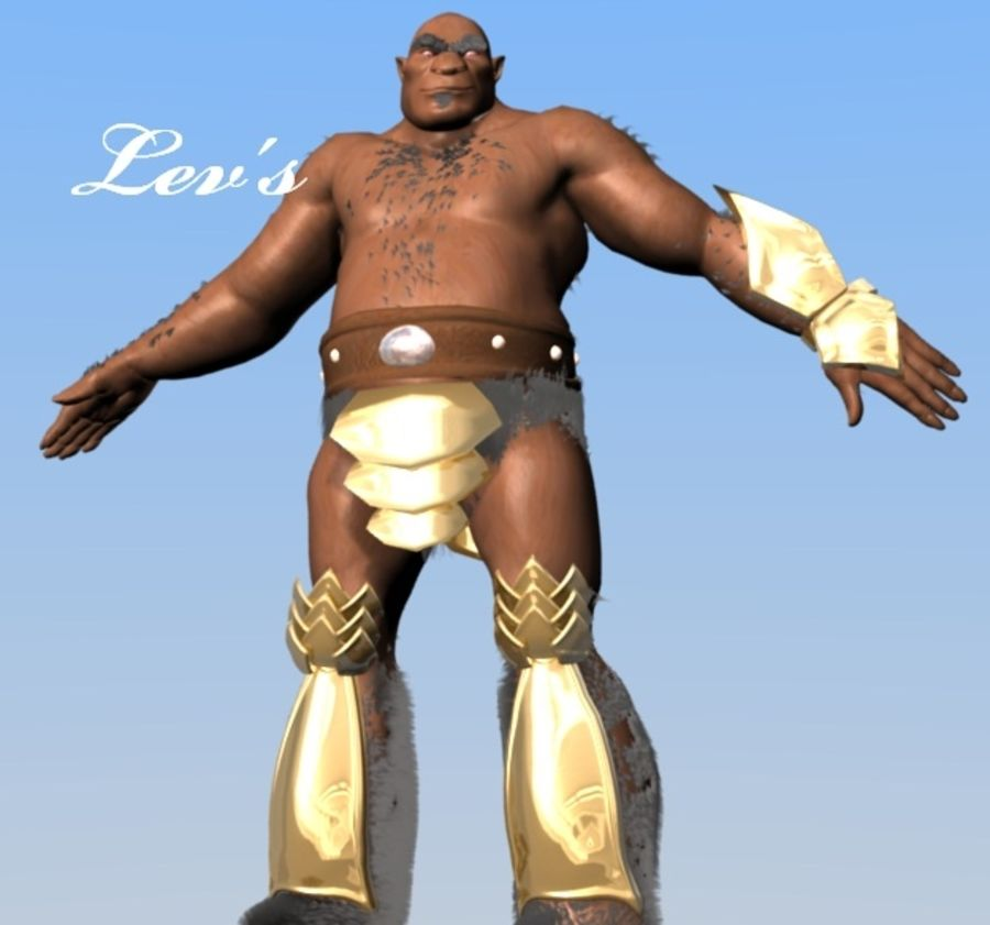 Armored Ogre royalty-free 3d model - Preview no. 6