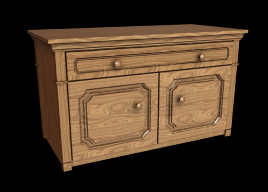 Dresser royalty-free 3d model - Preview no. 1