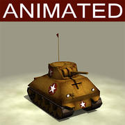 Cartoon_Tank 3d model