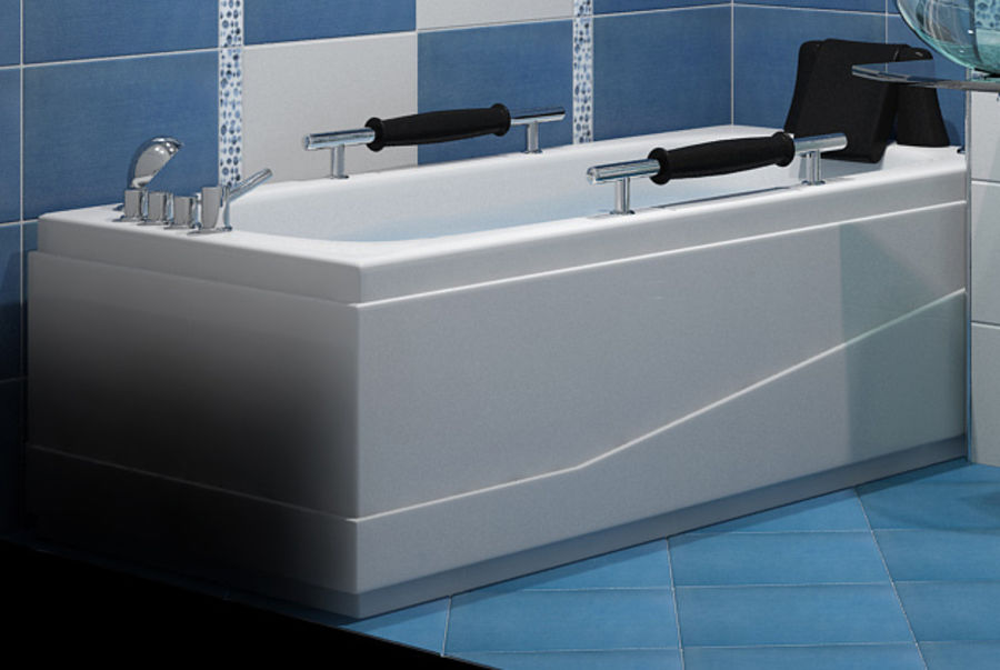 Bathtub Vicard 3088 royalty-free 3d model - Preview no. 1