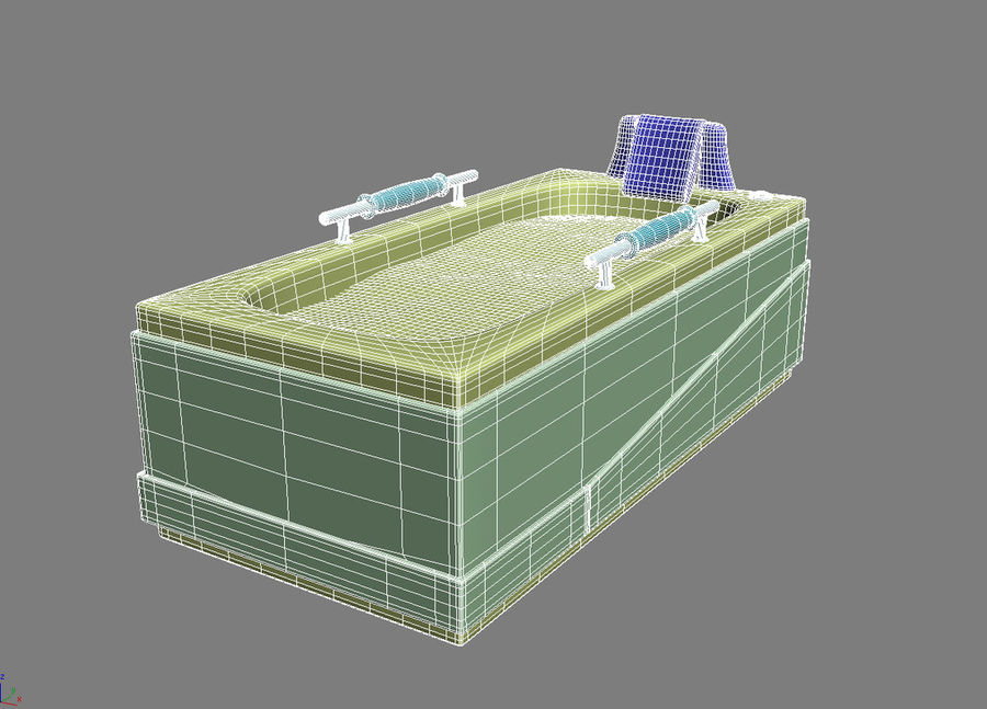 Bathtub Vicard 3088 royalty-free 3d model - Preview no. 8