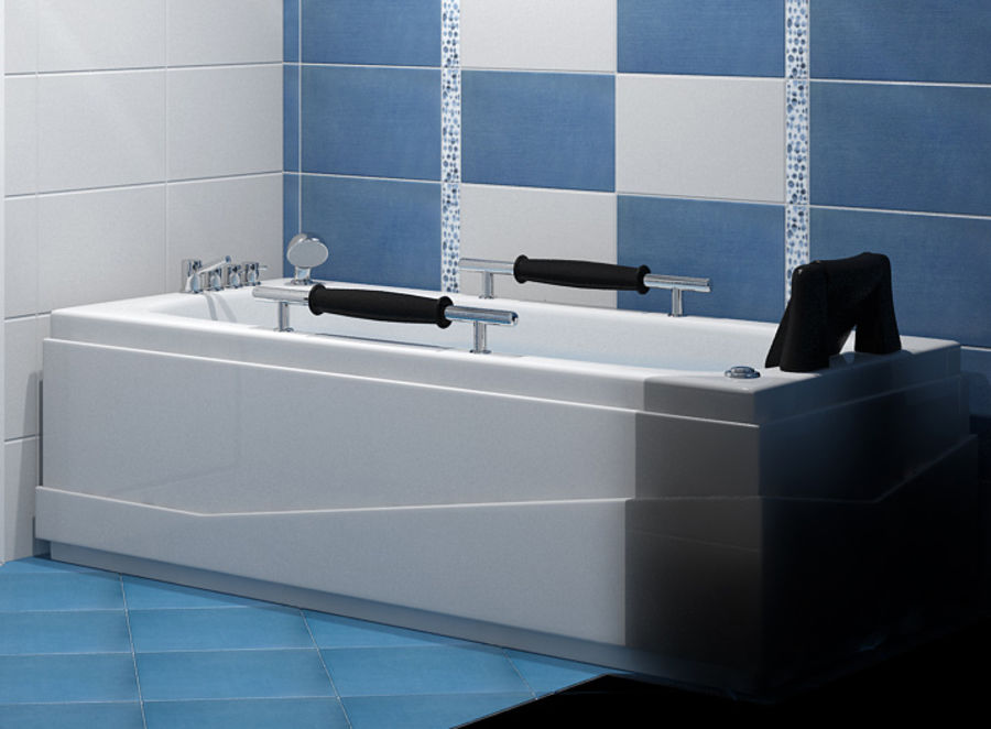 Bathtub Vicard 3088 royalty-free 3d model - Preview no. 2