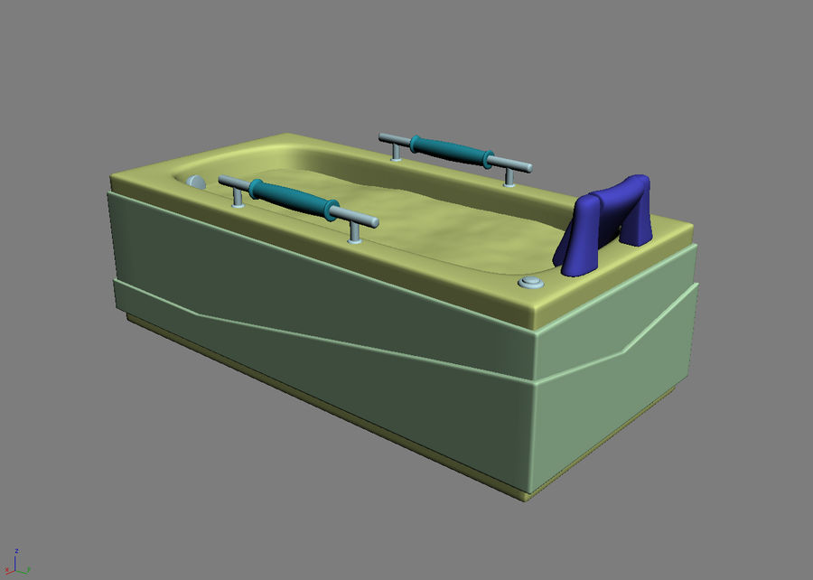 Bathtub Vicard 3088 royalty-free 3d model - Preview no. 7