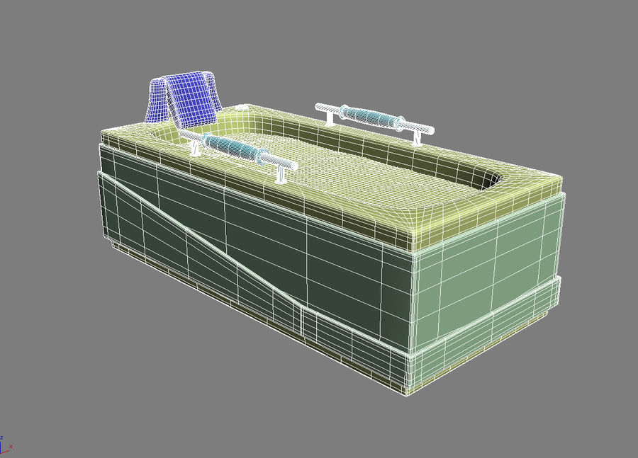 Bathtub Vicard 3088 royalty-free 3d model - Preview no. 11