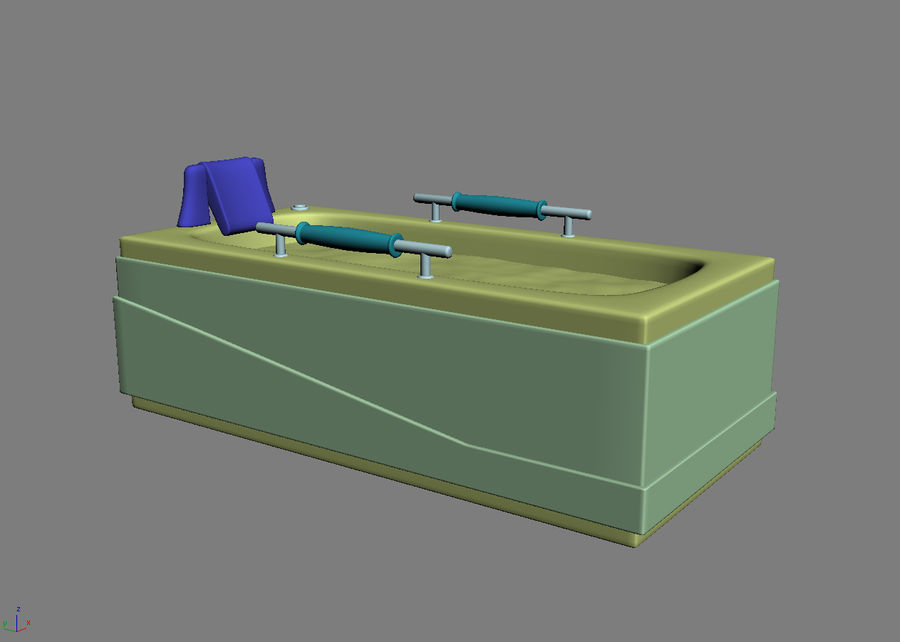 Bathtub Vicard 3088 royalty-free 3d model - Preview no. 5