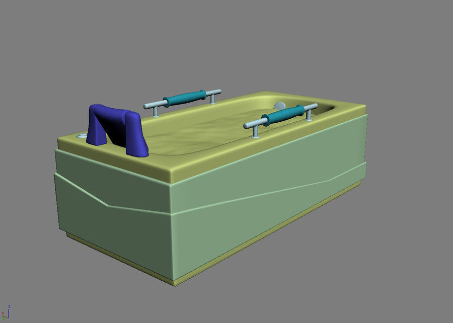 Bathtub Vicard 3088 royalty-free 3d model - Preview no. 4