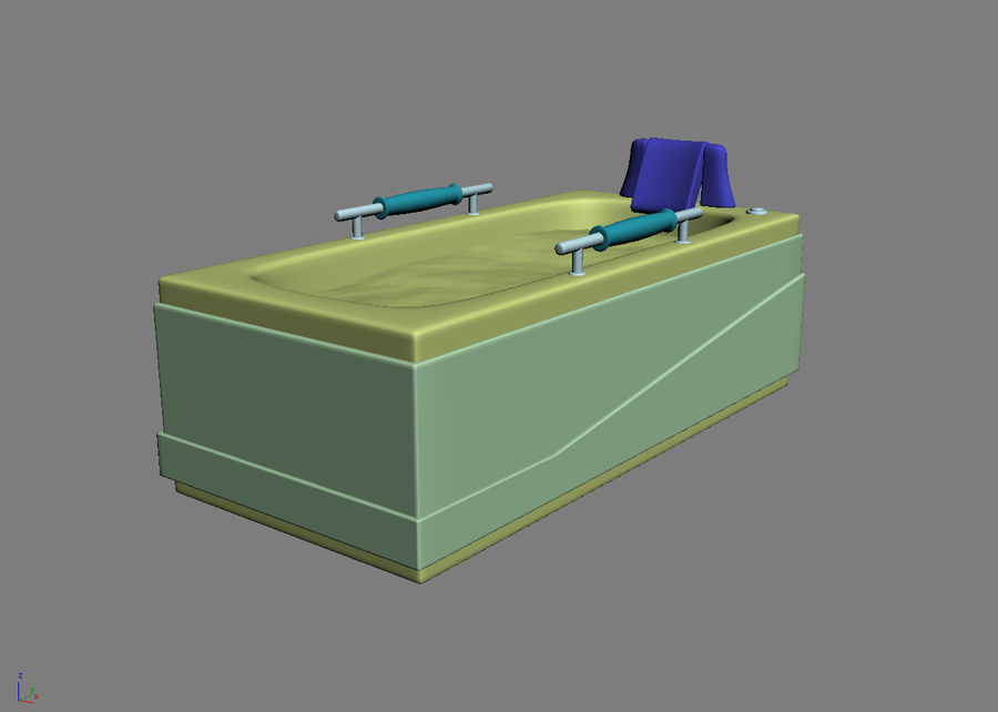 Bathtub Vicard 3088 royalty-free 3d model - Preview no. 6
