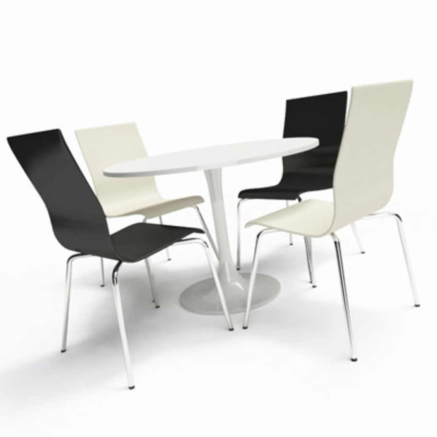Modern Table & Chairs royalty-free 3d model - Preview no. 1