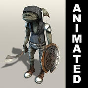 Kobold warrior animated 3d model