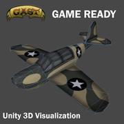 Combat Airplane 3d model