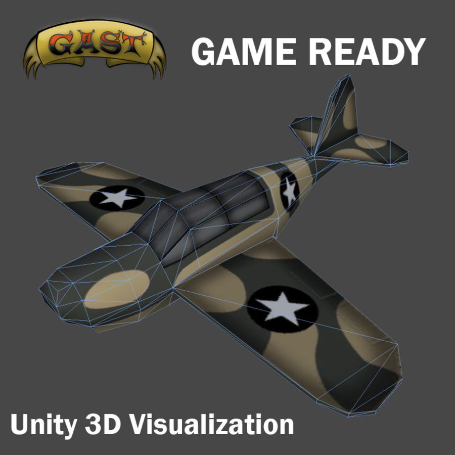 Avion de combat royalty-free 3d model - Preview no. 1