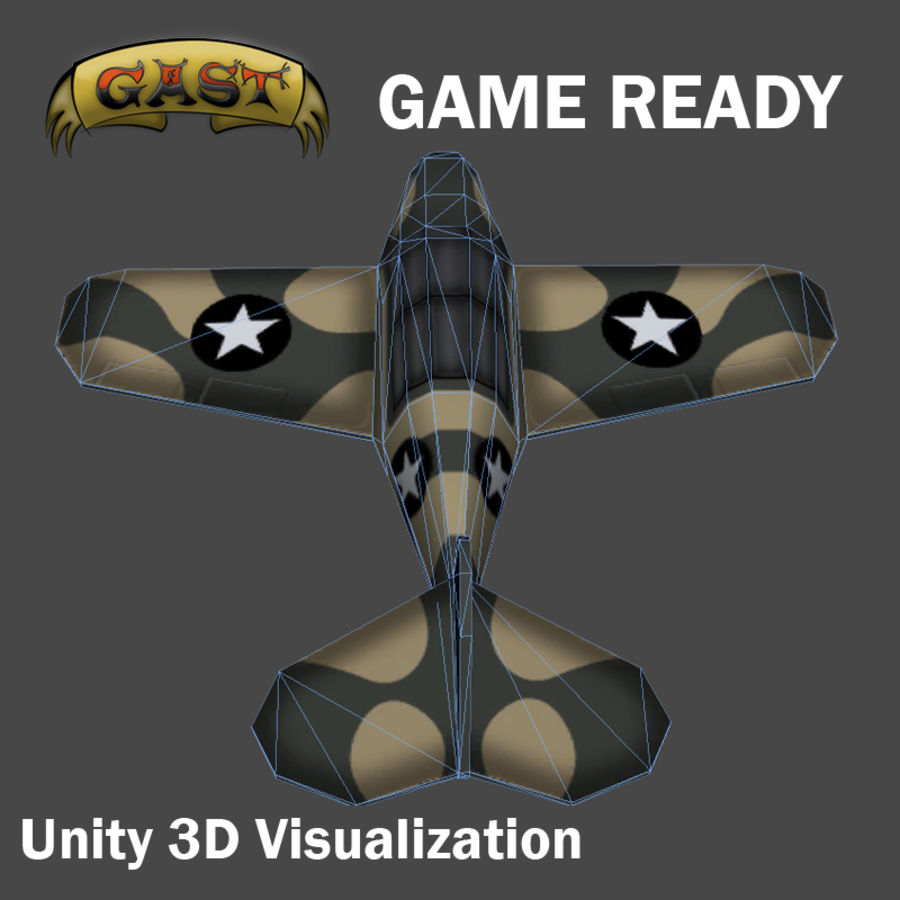 Avion de combat royalty-free 3d model - Preview no. 5