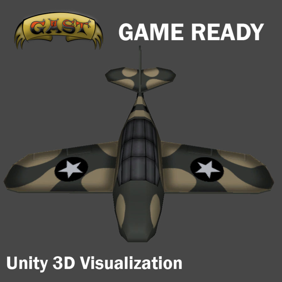 Avion de combat royalty-free 3d model - Preview no. 4