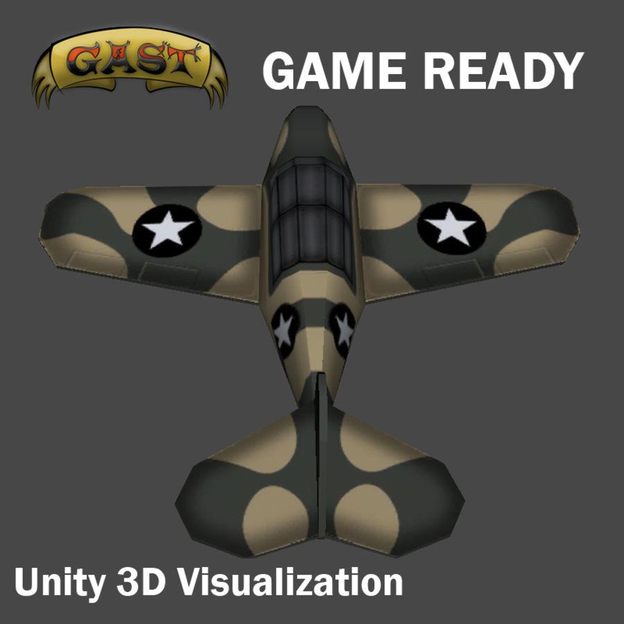 전투 비행기 royalty-free 3d model - Preview no. 6