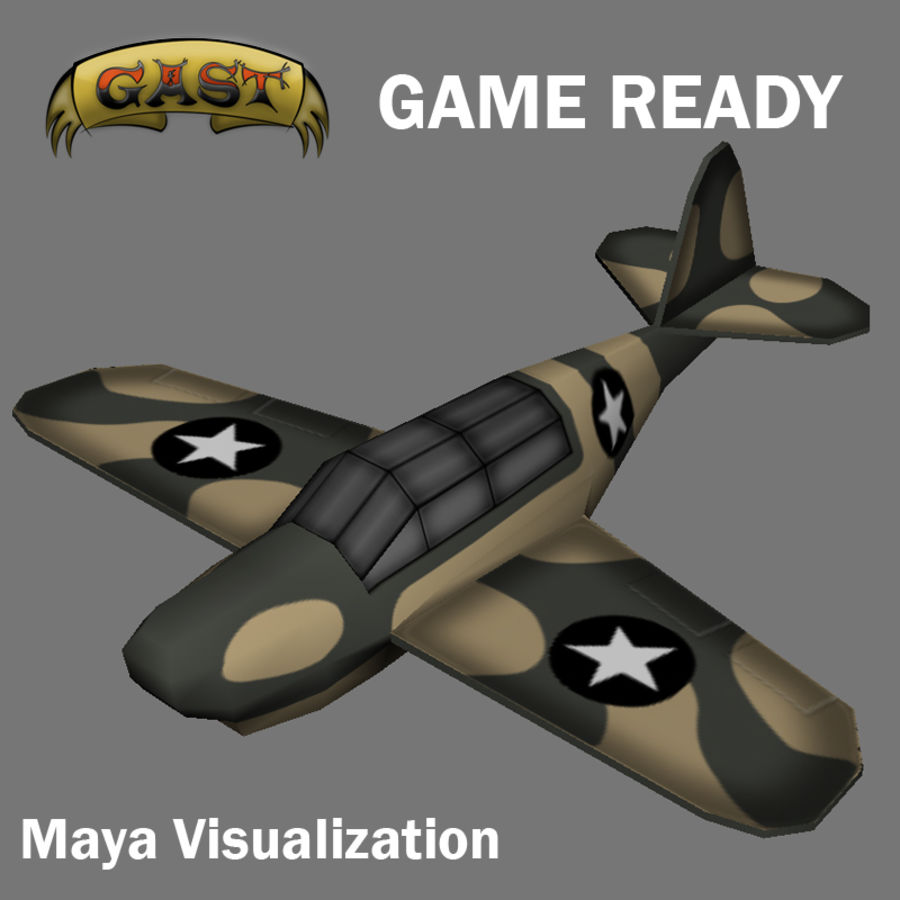 Avion de combat royalty-free 3d model - Preview no. 10