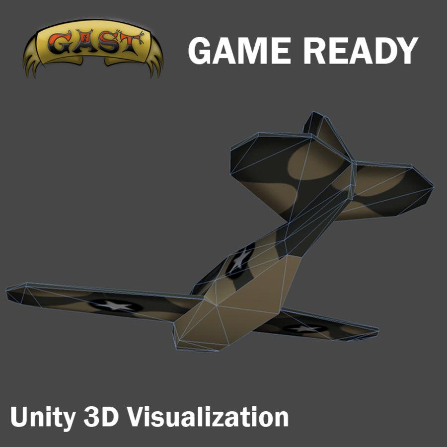 전투 비행기 royalty-free 3d model - Preview no. 7